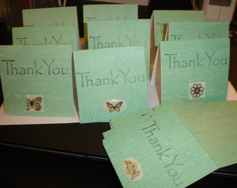 Butterfly themed thank you mini cards 16ct 3x3 folded Mini Notes Folded mini notes for sales Thank you cards Thank you Sales cards Thanks