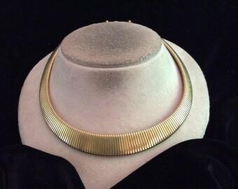 Vintage Chunky Signed Monet Goldtone Necklace