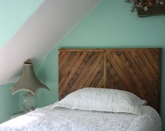 Wood Paneled Headboard