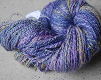 Hand dyed hand spun merino yarn
