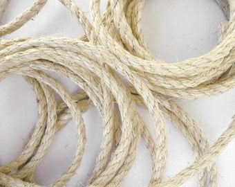 """100' (30 m) Natural Sisal Rope, Unoiled Chemical-Free Sisal, 1/4"""" or 5/16"""" or 3/8"""" (6 mm, 8 mm or 10 mm)"""