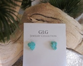 Natural Turquoise Sterling Silver Post Earrings