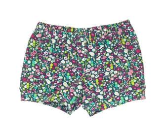 Baby Shorts, Toddler Shorts, Girls Shorts, Harem Shorts, Shorties, Bummies, Diaper Cover, Bloomers, Floral Shorts, Belle Fleur Floral