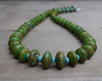 Green grows the Grassio: Semi Precious Turquoise Necklace