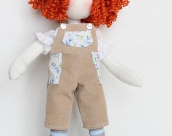 handmade fabric doll, soft doll