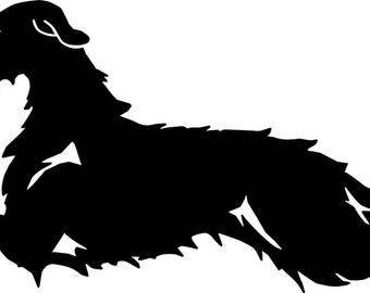 UniQ Irish Wolfhound vinyl decal