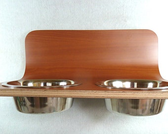 Wall Mounted Dog Bowl Holder available in various colours and sizes