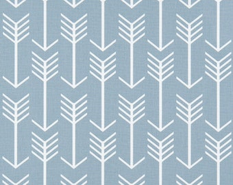 Blue Arrow Fabric by the Yard powder cashmere blue geometric upholsery home peach decor Premier Prints - 1 yard or more -  SHIPS FAST