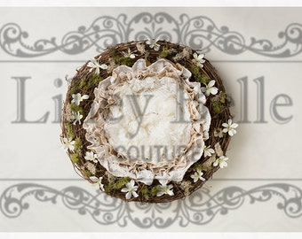 Digital prop/backdrop (Ruffles and Lace Daisy Nest)