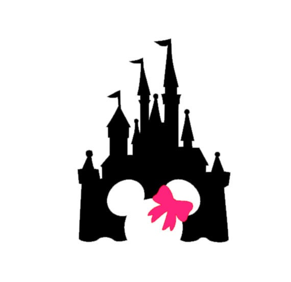 Disney Castle With Bow Decal Disney Decal Disney Castle - Disney custom vinyl stickers