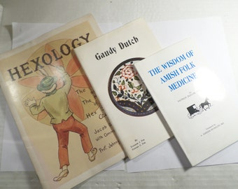 Vintage Lot of 3 DUTCH and AMISH Books