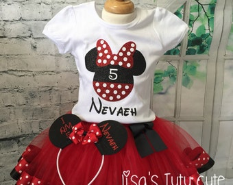 Minnie Mouse tutu, Minnie Mouse outfit, Minnie Mouse birthday outfit, Minnie tutu outfit, Minnie tutu, Minnie Birthday shirt,