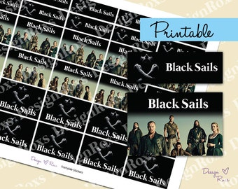 Black Sails tv show printable planner stickers