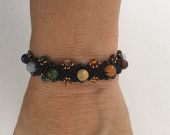 Chakra Protection Bracelet accented with Semiprecious Stones