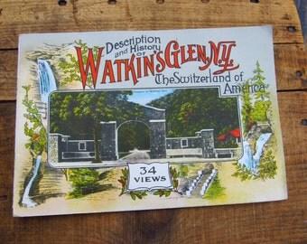 Vintage Souvenir Book From Watkins Glen NY - Watkins Glen Souvenir