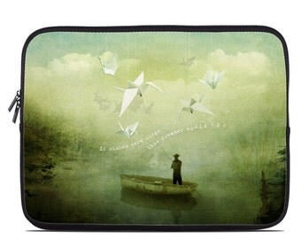 Laptop Sleeve Bag Case - If Wishes by Duirwaigh Studios - Neoprene Padded - Fits MacBooks + More