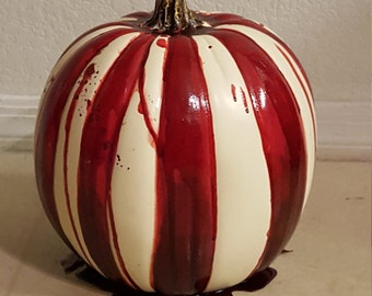 American Horror Story FREAK SHOW Pumpkin spooky Halloween bloody circus Jack-o-lantern holiday carnival decoration