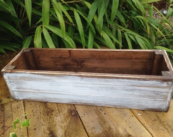 A beautifully rustic window box planter solid pine , colour can be customised to order