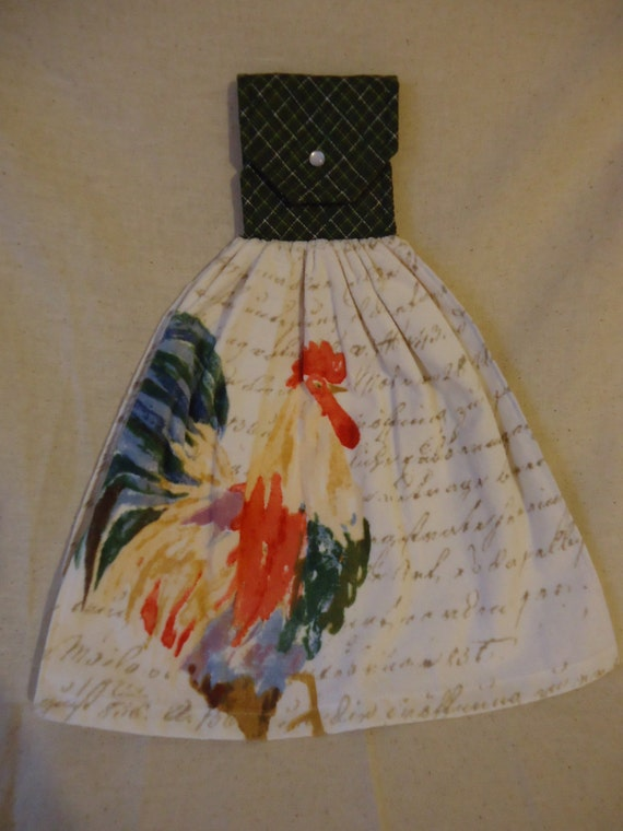 Https Www Etsy Com Listing 270882150 Rooster Kitchen Towel Rooster Decor