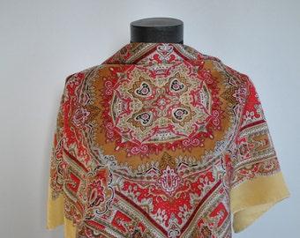Vintage PRINTED silk scarf.....(161)