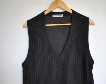 Vintage GIORGIO ARMANI men's gilete vest , clubbing men's vest ....