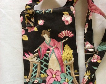 Asian lady Zipper top  hand bag