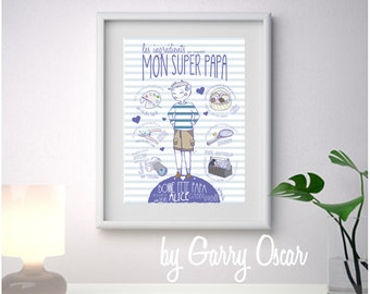 Fathers day frame Super Dad!