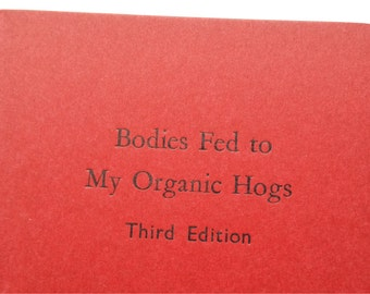 Organic Hogs - Small Funny Notebooks, Cahiers, Mini Journals, Jotters - Light Orange - A6 Pocket Notebooks