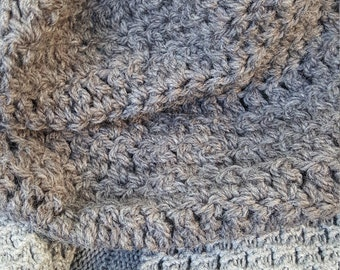 Grey Heather cowl