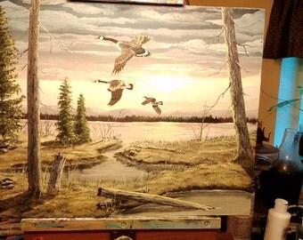 """Painting """"Morning Flight"""""""