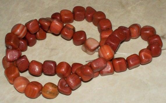 Red Malachite Stone : Red malachite pebble gemstone