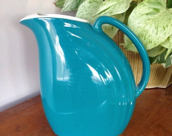 Teal water pitcher by Hall