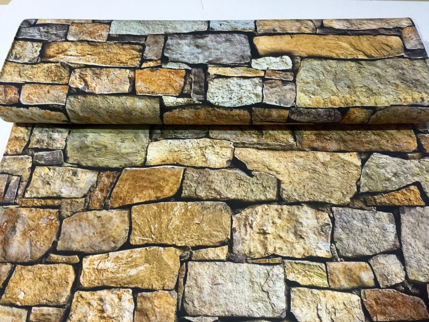 Stone Wall Brick Wall Curtain Upholstery Cotton Fabric