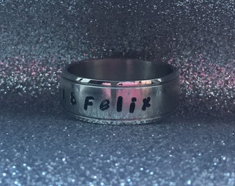 Stainless Steel Personalized Ring 8mm