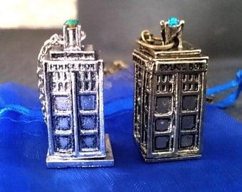 Police Phone Box Necklace