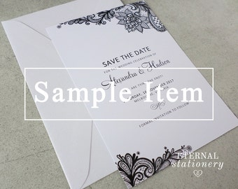 "Elegant Save the Date SAMPLE - ""Alexandra"""