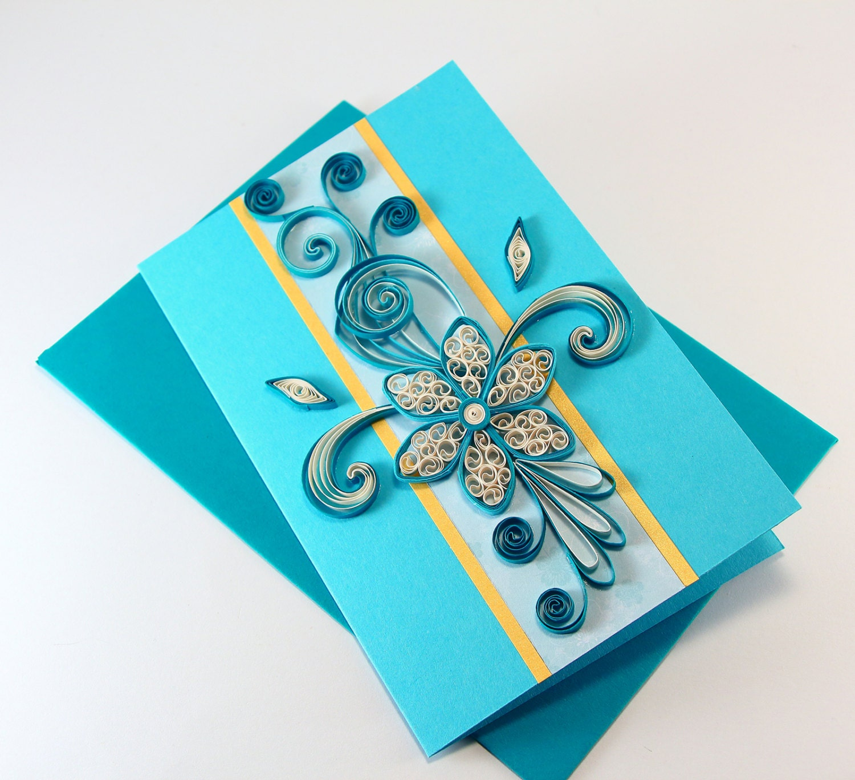 Quilling Birthday Card Friend Son Dad Birthday Card