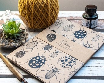 I Like Big Bugs A5 Recycled Notebook