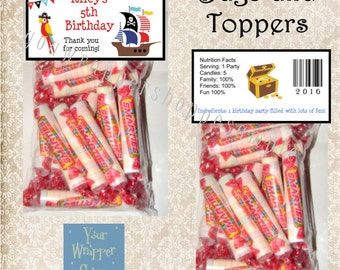PIRATE Birthday Favor Bags and Toppers Personalized Custom Party Favors