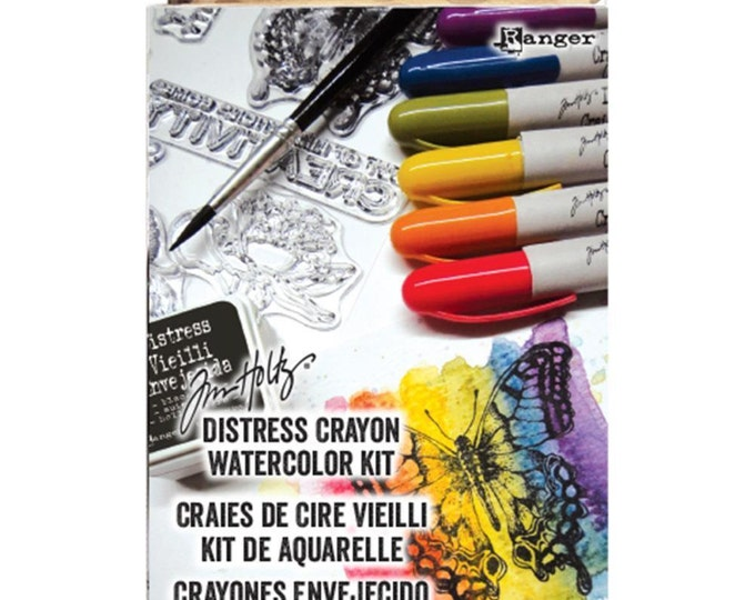 Ranger Tim Holtz Distress Crayons Watercolor Kit - New!