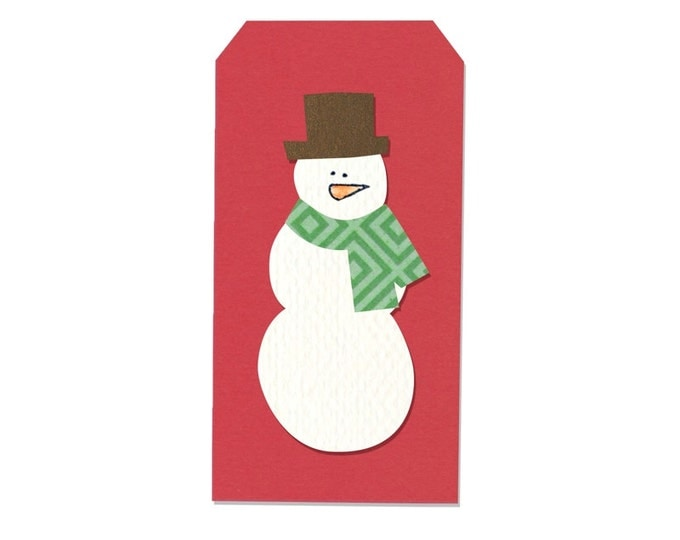 New! Sizzix Framelits Die Set 4PK w/Stamps - Snowman & Tag by Stephanie Ackerman