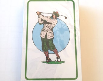Golf Deck of Playing Cards, New Sealed Hampton Direct Inc, Quicksand, Sand Trap Playing Cards, Golfer Golfing, Single Deck, Complete Set