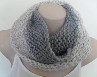 Alpaca, wool blend knitted infinity scarf