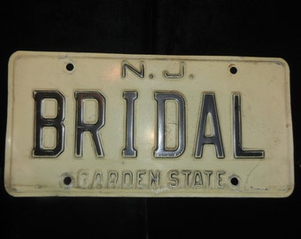 Bridal License Plate - New Jersey