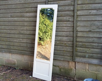 Large Vintage Painted Shabby Chic Full Length Mirror LEWES COLLECTION ONLY