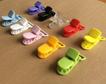 """DIY craft 10pcs mix color baby pacifier clip/KAM clip Flat Backs 1""""random"""
