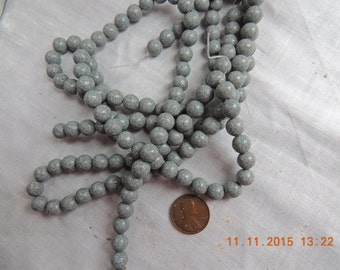 Bead Supply: Grey feldspar 8 mm beads.  Make your  own jewelry necklaces, bracelets, Malas, earrings, etc.