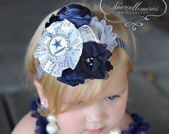 Dallas Cowboys Headband/Baby Headband/Baby Headbands and Bows/Baby Girl Headband/Girl Headband Baby/Toddler Headband/Baby Romper