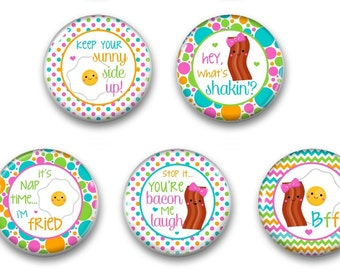 Funny Refrigerator Magnets- Fridge Magnet - Bacon magnets - Kitchen Decor Magnet - Funny Gift - Gag Gift - Bacon and Eggs Magnet