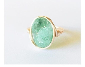 Oval Ring in Turquoise